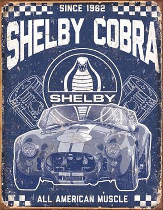 Tin Sign - Shelby Cobra - All American Muscle
