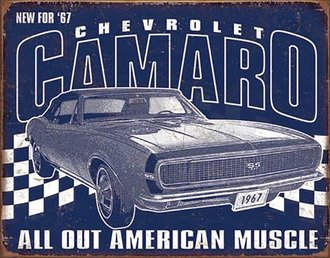Tin Sign - 1967 Camaro - All Out American Muscle