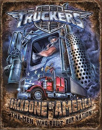 Tin Sign - Truckers - Backbone of America