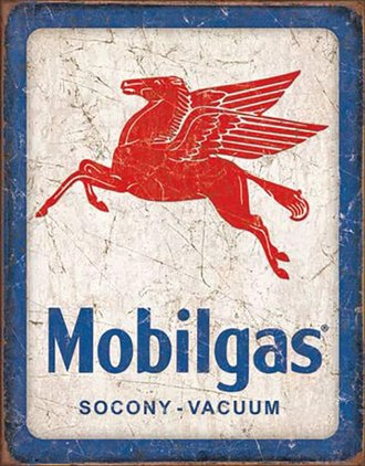 Tin Sign - Mobilgas - Pegasus