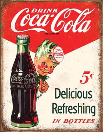 Tin Sign - Coca-Cola - Sprite Boy - 5 Cents
