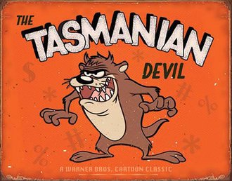 Tin Sign - Warner Bros. - Tasmanian Devil