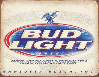 Tin Sign - Bud Light - Retro