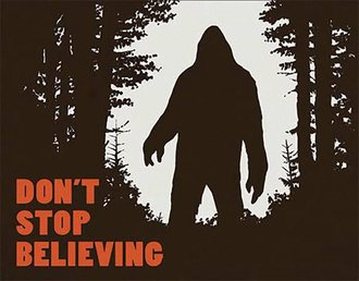 Tin Sign - Big Foot - Don't Stop Believing