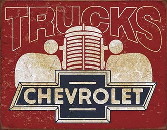 Tin Sign - Chevy Trucks of the 1940's