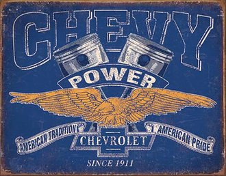 Tin Sign - Chevy Power - Since 1911