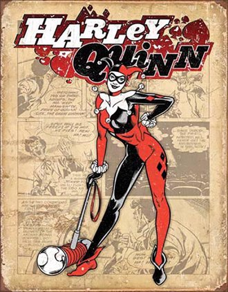 Tin Sign - Harley Quinn (Retro)