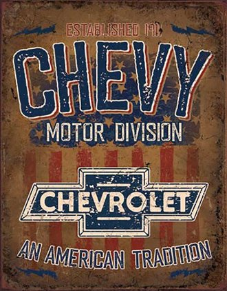 Tin Sign - Chevy - An American Tradition