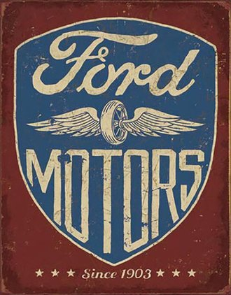 Tin Sign - Ford Motors - Since 1903