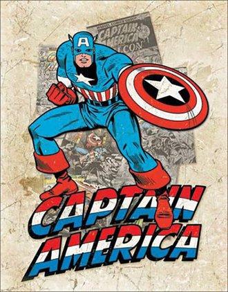 Tin Sign - Captain America - Cover Splash