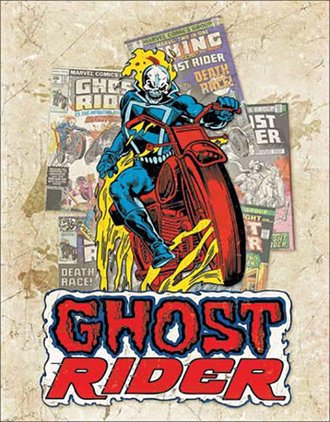 Tin Sign - Ghost Rider - Cover Splash