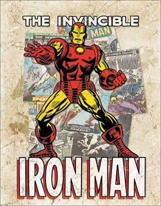 Tin Sign - Iron Man - Cover Splash