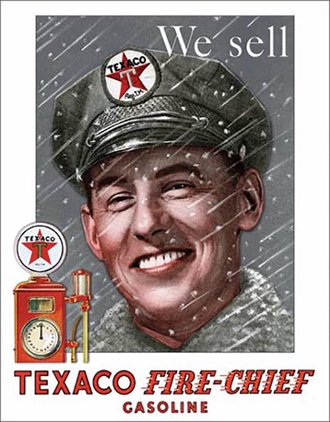Tin Sign - Texaco - Pump Attendant