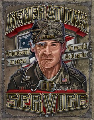Tin Sign - Generations of Service