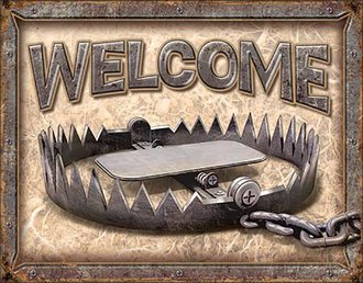 Tin Sign - Welcome - Bear Trap