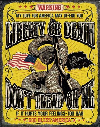 Tin Sign - Don't Tread On Me - Liberty or Death