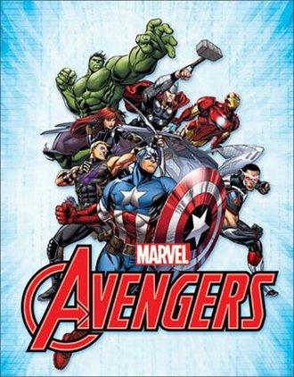 Tin Sign - Avengers (Ensemble)