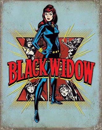 Tin Sign - Black Widow (Retro)