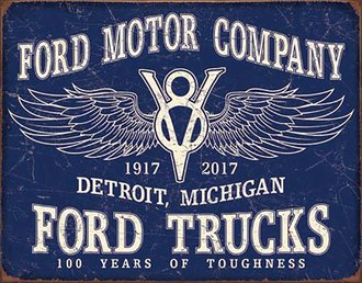 Tin Sign - Ford Trucks - 100 Years