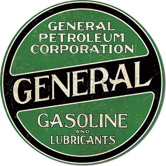 Tin Sign - General Gasoline (Round)