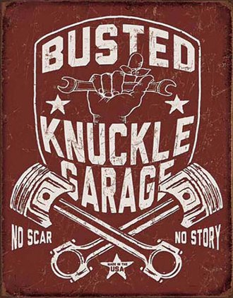 Tin Sign - Busted Knuckle Garage (Shield)