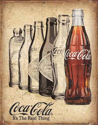Tin Sign - Coca-Cola Bottles - It's The Real Thing