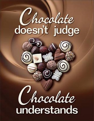 Tin Sign - Chocolate Don't Judge...Understands