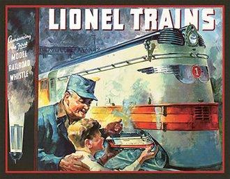 Tin Sign - Lionel 1935 Catalog Cover