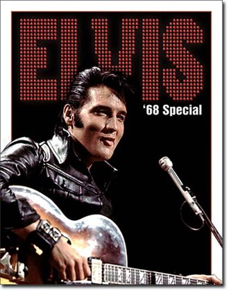 Tin Sign - Elvis - '68 Special