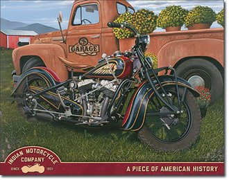 Tin Sign - Indian Motorcycles - Indian Summer - Jacobs