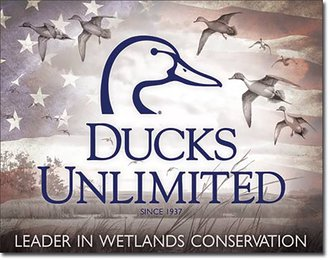 Tin Sign - Ducks Unlimited w/USA Flag