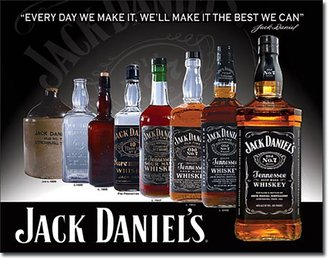 Tin Sign - Jack Daniel's - Bottles