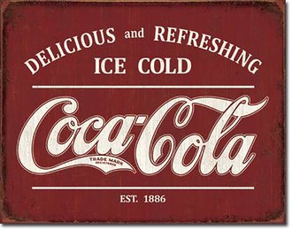 Tin Sign - Coca-Cola - Est. 1886