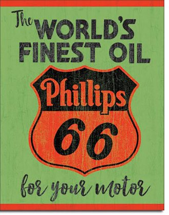 Tin Sign - Phillips 66 - World's Finest Oil