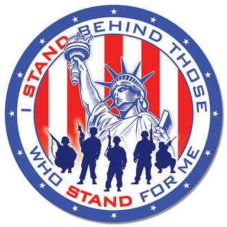Tin Sign - I Stand Behind Those Who Stand for Me (Round)