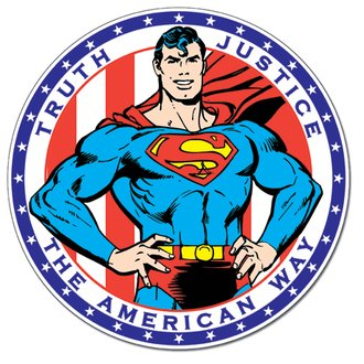 Tin Sign - Superman - The American Way (Round)