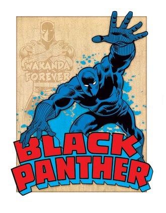 Tin Sign - Black Panther Retro