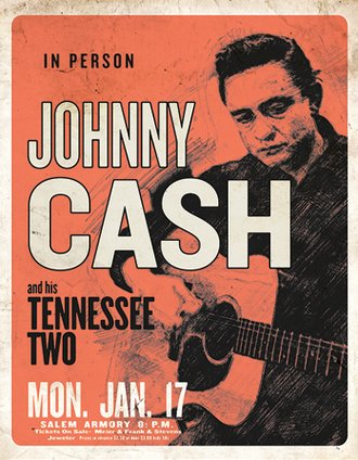 Tin Sign - Johnny Cash & His Tennessee Two