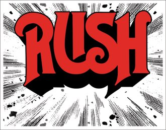 Tin Sign - RUSH - 1974 Cover