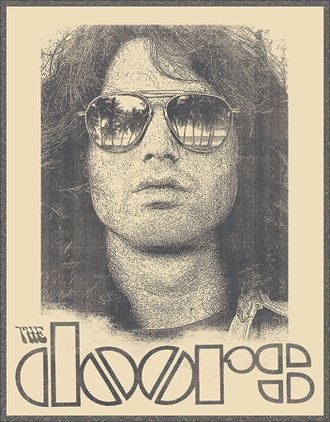 Tin Sign - The Doors - Morrison Shades