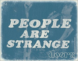 Tin Sign - The Doors - People are Strange