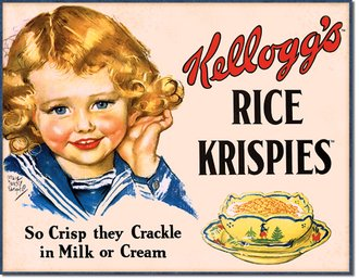 Tin Sign - Kellogg's Rice Krispies