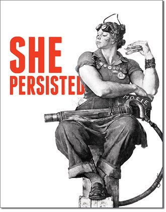 Tin Sign - Rosie - She Persisted