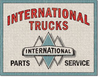 Tin Sign - International Trucks - Part & Service