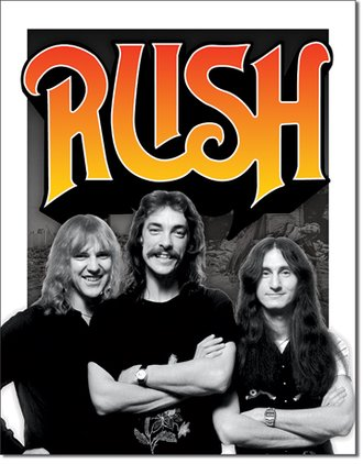 Tin Sign - Rush - 1970's Band