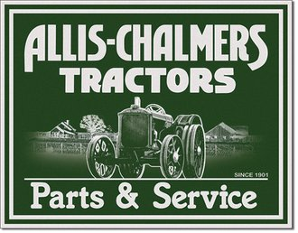 Tin Sign - Allis-Chalmers Tractors - Parts & Service