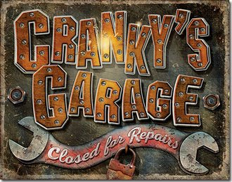 Tin Sign - Cranky's Garage