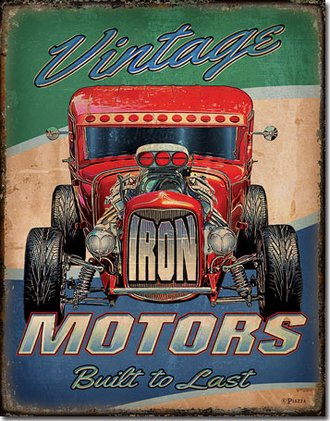 Tin Sign - Vintage Iron Motors