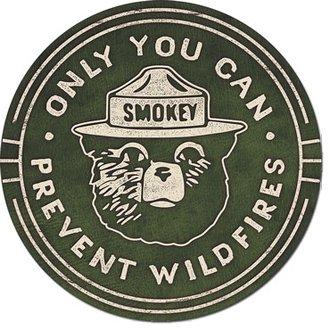 Tin Sign - Smokey the Bear (Round)