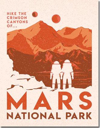 Tin Sign - Mars National Park